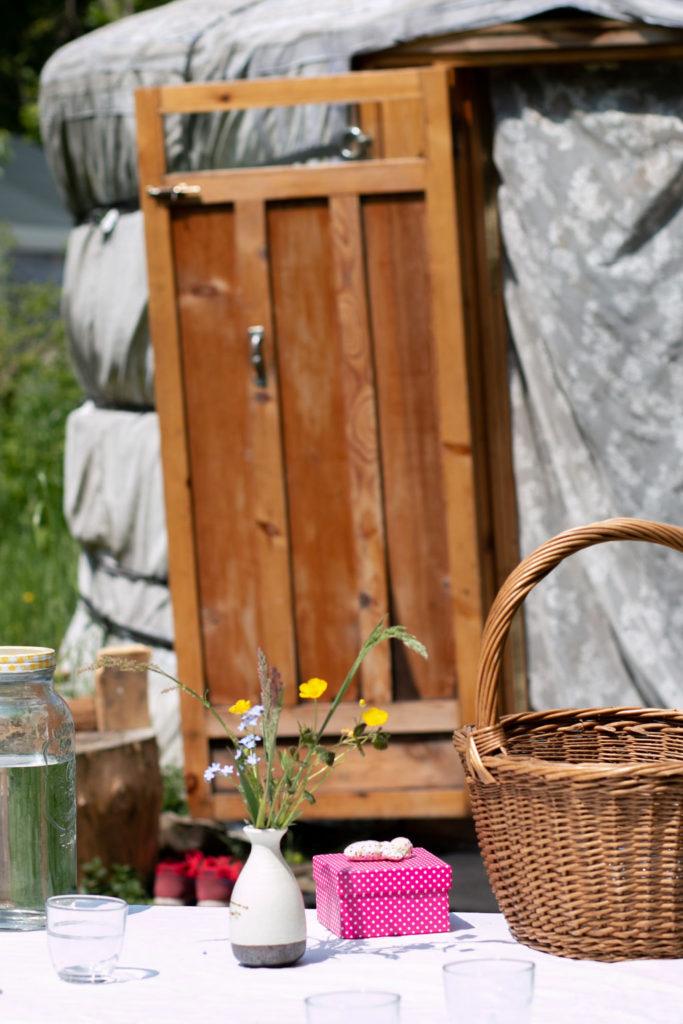 wandelsessies, kampvuur en yurt
